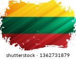 flag of the lithuania brush... | Shutterstock .eps vector #1362731879