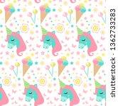 happy birthday seamless pattern....   Shutterstock .eps vector #1362733283
