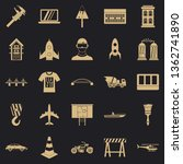 draft icons set. simple set of... | Shutterstock .eps vector #1362741890