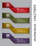 modern vector design template.... | Shutterstock .eps vector #136275893