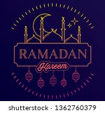 ramadan kareem background with... | Shutterstock .eps vector #1362760379