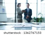 workplace of office manager... | Shutterstock . vector #1362767153
