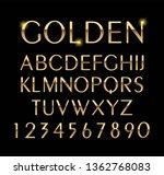 luxurious gold alphabet vector... | Shutterstock .eps vector #1362768083
