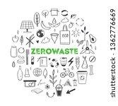 zero waste lifestyle vector... | Shutterstock .eps vector #1362776669