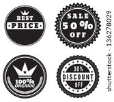 set of discount and sale price... | Shutterstock .eps vector #136278029