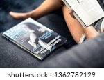 magazine cover with text and... | Shutterstock . vector #1362782129