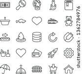 thin line vector icon set  ... | Shutterstock .eps vector #1362784976