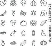 thin line vector icon set  ... | Shutterstock .eps vector #1362804626