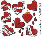 daddy love daddy's girl heart... | Shutterstock .eps vector #1362812069