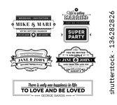 wedding stamps version   Shutterstock .eps vector #136282826