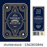vintage liquor labels  front... | Shutterstock .eps vector #1362833846