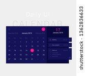 modern web design blue calendar ...   Shutterstock .eps vector #1362836633