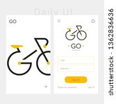 app design template with...