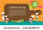 kids cooking class certificate... | Shutterstock .eps vector #1362838649
