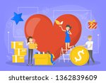 volunteer concept. idea of... | Shutterstock .eps vector #1362839609