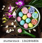thai desserts coconut milk eggs ... | Shutterstock . vector #1362846806