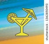 cocktail mono color icon....