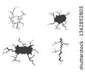 set of cracks. isolated on... | Shutterstock .eps vector #1362852803