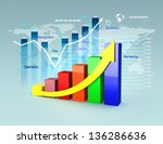 business plan with graphs and... | Shutterstock . vector #136286636