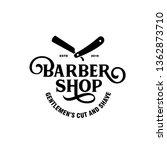 barber shop emblem badge... | Shutterstock .eps vector #1362873710