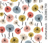 seamless floral pattern in... | Shutterstock .eps vector #1362881750