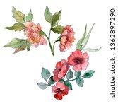 wildflower bouquet floral...   Shutterstock . vector #1362897290