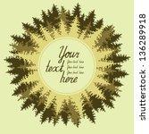 illustration of coniferous... | Shutterstock .eps vector #136289918