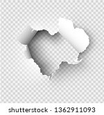 ragged hole torn in ripped... | Shutterstock .eps vector #1362911093