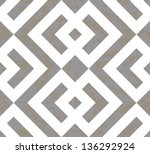 seamless interlocked squares... | Shutterstock .eps vector #136292924