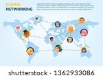 global network concept. idea of ... | Shutterstock .eps vector #1362933086