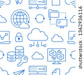 cloud data storage seamless...   Shutterstock .eps vector #1362936116