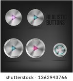 realistic metallic buttons on... | Shutterstock .eps vector #1362943766