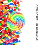 Colorful Candy Corner Border...