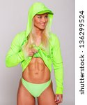 image of blondie in bright... | Shutterstock . vector #136299524