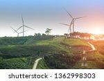 wind turbine power generator... | Shutterstock . vector #1362998303