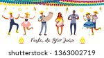 festa junina banner with... | Shutterstock .eps vector #1363002719