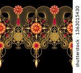 3d rendering. golden stylized... | Shutterstock . vector #1363015430