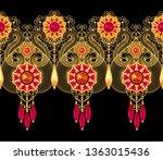 3d rendering. golden stylized... | Shutterstock . vector #1363015436