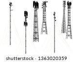 illustration with set of... | Shutterstock .eps vector #1363020359