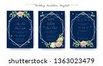 set of wedding invitation ... | Shutterstock .eps vector #1363023479