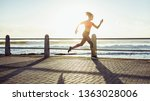 fit young woman in running fast ... | Shutterstock . vector #1363028006