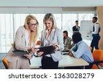 business team of women with... | Shutterstock . vector #1363028279