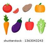 seth fresh organic vegetables | Shutterstock .eps vector #1363043243