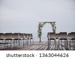 arch for the wedding ceremony... | Shutterstock . vector #1363044626