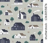 seamless pattern with... | Shutterstock .eps vector #1363055876