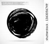 black ink brush strokes... | Shutterstock .eps vector #1363056749