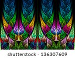 fractal pattern in stained... | Shutterstock . vector #136307609