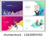 set of web page design... | Shutterstock .eps vector #1363085450
