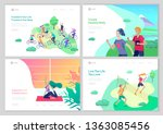 landing page template with... | Shutterstock .eps vector #1363085456