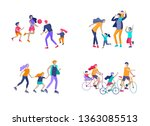 collection of family hobby... | Shutterstock .eps vector #1363085513